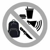 Image of prohibited items