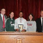 Student-athletes, alumnus honored during State House ceremony