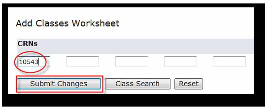 Add Classes Worksheeet