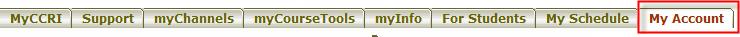 image of the MyAccount tab