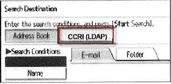 image of CCRI LDAP Search condition