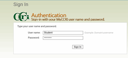 CCRI Authentication