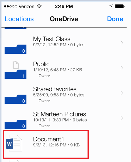 Personal Printing Mobile - OneDrive File