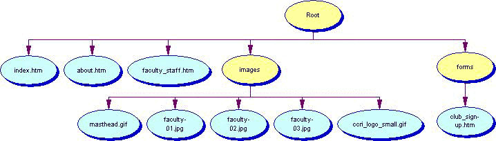 image of website organizational chart