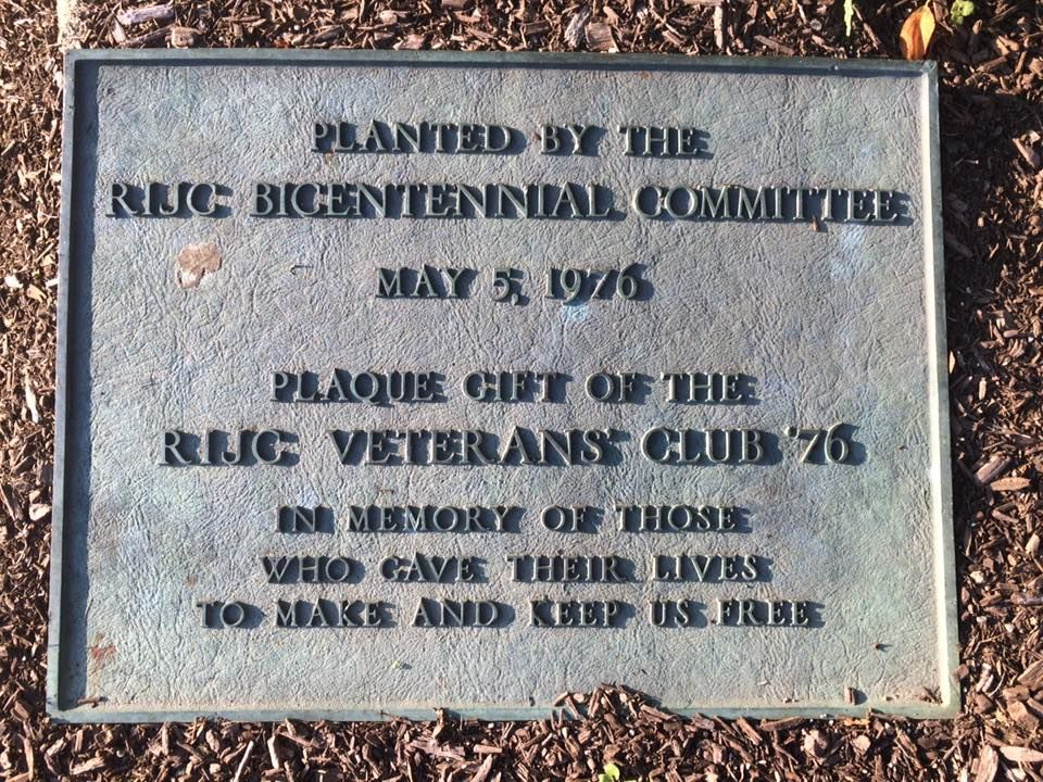 RIJC Veterans club plaque